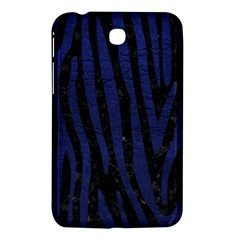 Skin4 Black Marble & Blue Leather (r) Samsung Galaxy Tab 3 (7 ) P3200 Hardshell Case  by trendistuff