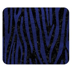 Skin4 Black Marble & Blue Leather (r) Double Sided Flano Blanket (small) by trendistuff