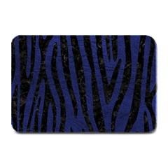 Skin4 Black Marble & Blue Leather Plate Mat by trendistuff