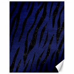 Skin3 Black Marble & Blue Leather (r) Canvas 12  X 16  by trendistuff