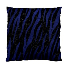 Skin3 Black Marble & Blue Leather Standard Cushion Case (two Sides) by trendistuff