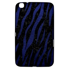 Skin3 Black Marble & Blue Leather Samsung Galaxy Tab 3 (8 ) T3100 Hardshell Case  by trendistuff