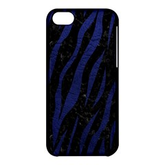 Skin3 Black Marble & Blue Leather Apple Iphone 5c Hardshell Case by trendistuff