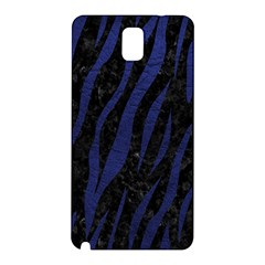 Skin3 Black Marble & Blue Leather Samsung Galaxy Note 3 N9005 Hardshell Back Case by trendistuff