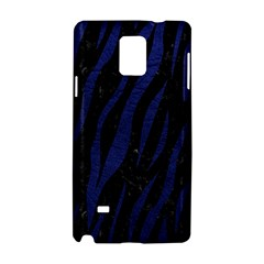 Skin3 Black Marble & Blue Leather Samsung Galaxy Note 4 Hardshell Case by trendistuff