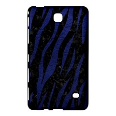 Skin3 Black Marble & Blue Leather Samsung Galaxy Tab 4 (7 ) Hardshell Case  by trendistuff