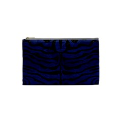 Skin2 Black Marble & Blue Leather (r) Cosmetic Bag (small) by trendistuff