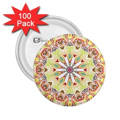Intricate Flower Star 2 25  Buttons (100 Pack)  by Alisyart