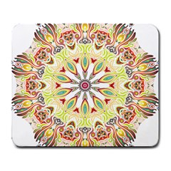 Intricate Flower Star Large Mousepads by Alisyart