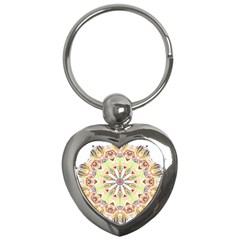 Intricate Flower Star Key Chains (heart)  by Alisyart