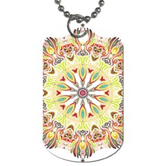 Intricate Flower Star Dog Tag (two Sides) by Alisyart