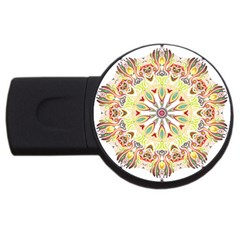 Intricate Flower Star Usb Flash Drive Round (2 Gb) by Alisyart