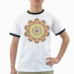 Intricate Flower Star Ringer T Shirts by Alisyart