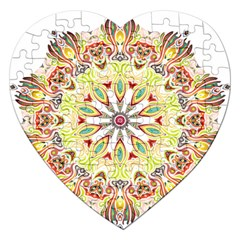 Intricate Flower Star Jigsaw Puzzle (heart) by Alisyart