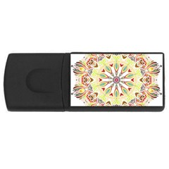 Intricate Flower Star Usb Flash Drive Rectangular (4 Gb) by Alisyart