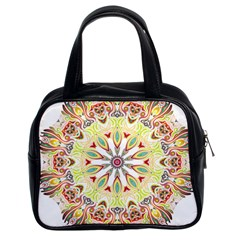 Intricate Flower Star Classic Handbags (2 Sides) by Alisyart