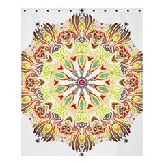 Intricate Flower Star Shower Curtain 60  X 72  (medium)  by Alisyart