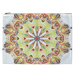 Intricate Flower Star Cosmetic Bag (xxl)  by Alisyart