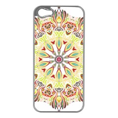 Intricate Flower Star Apple Iphone 5 Case (silver) by Alisyart