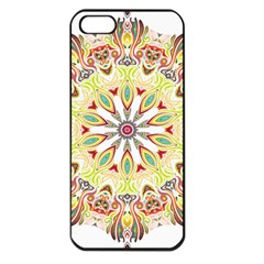 Intricate Flower Star Apple Iphone 5 Seamless Case (black)