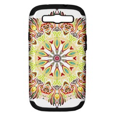 Intricate Flower Star Samsung Galaxy S Iii Hardshell Case (pc+silicone) by Alisyart