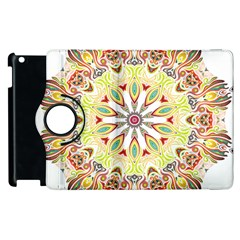 Intricate Flower Star Apple Ipad 3/4 Flip 360 Case