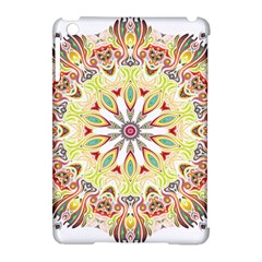 Intricate Flower Star Apple Ipad Mini Hardshell Case (compatible With Smart Cover) by Alisyart