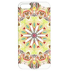 Intricate Flower Star Apple Iphone 5 Hardshell Case With Stand by Alisyart