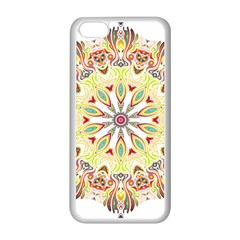 Intricate Flower Star Apple Iphone 5c Seamless Case (white) by Alisyart