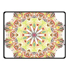 Intricate Flower Star Double Sided Fleece Blanket (small)  by Alisyart