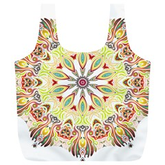 Intricate Flower Star Full Print Recycle Bags (l)  by Alisyart