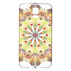 Intricate Flower Star Samsung Galaxy S5 Back Case (white) by Alisyart