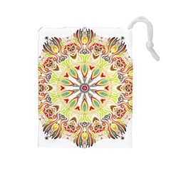Intricate Flower Star Drawstring Pouches (large)