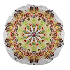 Intricate Flower Star Large 18  Premium Flano Round Cushions by Alisyart
