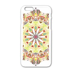 Intricate Flower Star Apple Iphone 6/6s White Enamel Case by Alisyart