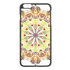 Intricate Flower Star Apple Iphone 6 Plus/6s Plus Black Enamel Case by Alisyart