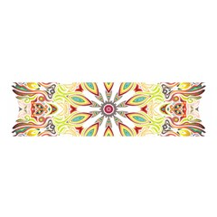 Intricate Flower Star Satin Scarf (oblong)