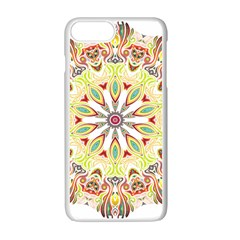 Intricate Flower Star Apple Iphone 7 Plus White Seamless Case by Alisyart