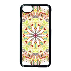 Intricate Flower Star Apple Iphone 7 Seamless Case (black) by Alisyart
