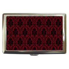 Elegant Black And Red Damask Antique Vintage Victorian Lace Style Cigarette Money Cases
