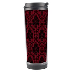Elegant Black And Red Damask Antique Vintage Victorian Lace Style Travel Tumbler