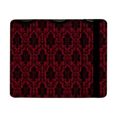 Elegant Black And Red Damask Antique Vintage Victorian Lace Style Samsung Galaxy Tab Pro 8 4  Flip Case by yoursparklingshop