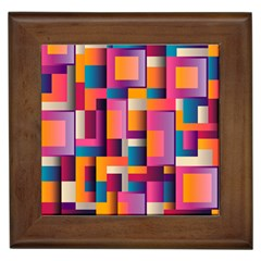 Abstract Background Geometry Blocks Framed Tiles by Simbadda
