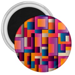 Abstract Background Geometry Blocks 3  Magnets by Simbadda