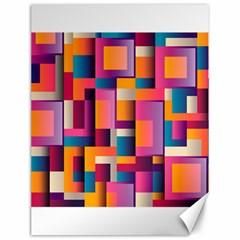 Abstract Background Geometry Blocks Canvas 12  X 16   by Simbadda