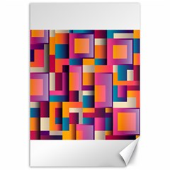 Abstract Background Geometry Blocks Canvas 24  X 36  by Simbadda