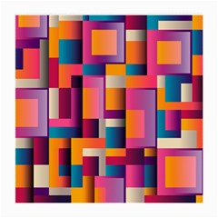 Abstract Background Geometry Blocks Medium Glasses Cloth (2 Side) by Simbadda
