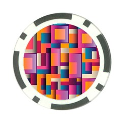 Abstract Background Geometry Blocks Poker Chip Card Guard by Simbadda