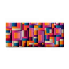 Abstract Background Geometry Blocks Cosmetic Storage Cases by Simbadda