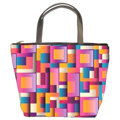 Abstract Background Geometry Blocks Bucket Bags by Simbadda